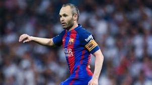 Andres Iniesta Real Madrid CF v FC Barcelona La Liga 23042017