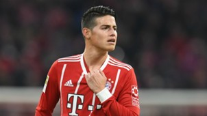James Rodriguez FC Bayern Muenchen v FC Augsburg Bundesliga 18112017