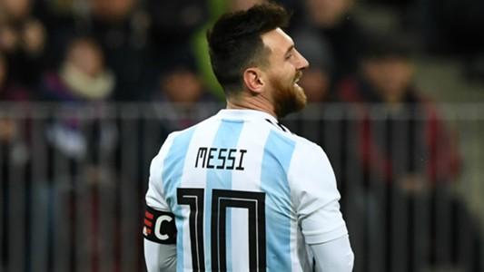 Lionel Messi Argentina v Rusia Amistoso 11112017