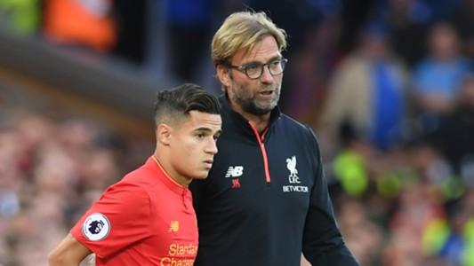 Philippe Coutinho and Jurgen Klopp Liverpool Premier League 09102016