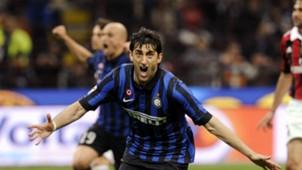 Diego Milito FC Internazionale Milano v AC Milan Serie A 06052012