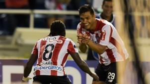 Yimmi Chará y Teófilo Gutiérrez Junior vs Cerro Porteño Copa Sudamericana 19092017