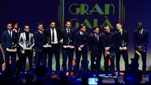 Once ideal Calcio Italiano Ceremonio de premiacion 27112017