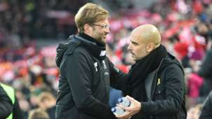 Jurgen Klopp and Pep Guardiola Liverpool vs Manhester City PL 01142018