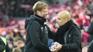 Jurgen Klopp and Pep Guardiola Liverpool vs Manhester City PL 01142018