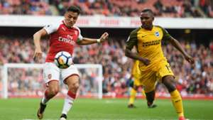 Alexis Sanchez Arsenal v Brighton and Hove Albion Premier League 01102017
