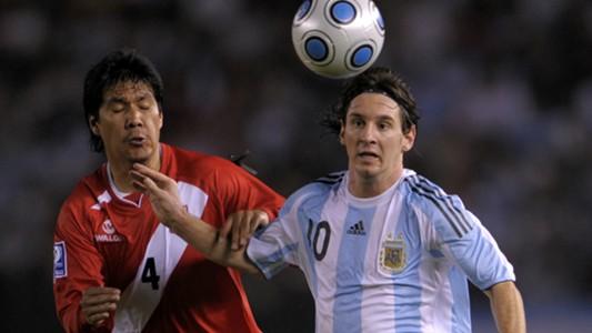 Lionel Messi Argentina v Perú Eliminatorias sudamericanas