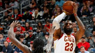 LeBron James Cleveland Cavaliers v Atlanta Hawks NBA regular season 09022018