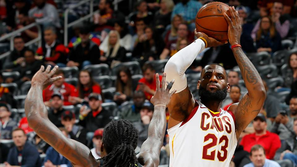 LeBron James passes Michael Jordan for most consecutive double-digit scoring games
