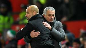 Pep guardiola José Mourinho Manchester United v Manchester City Premier League 10122017