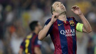 Andrés Iniesta Barcelona v Ajax UEFA Champions League 21102014