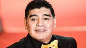Diego Maradona arrives to attend the Final Draw for the 2018 FIFA World Cup football tournament at the State Kremlin Palace in Moscow 01122017