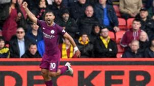 Sergio Aguero Watford vs Manchester City Premier League 16092017