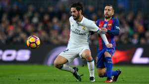 Isco & Jordi Alba FC Barcelona v Real Madrid La Liga 03122016