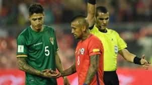 Chile v Bolivia Nelson Cabrera Arturo Vidal Eliminatorias Sudamericanas 06092016