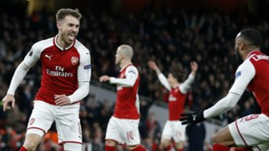 Aaron Ramsey and Alexander Lacazette Arsenal Europa League 04052018