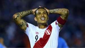 Paolo Guerrero Uruguay v Peru WC South America qualifiers 29032016