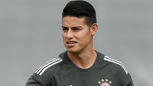 James Rodriguez Bayern Muenchen Training And Press Conference 11092017