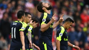 Oliver Giroud Arsenal vs Stoke City Premier League 13052017