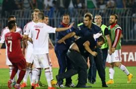 Serbia v Albania Eurocopa 14102014