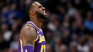 LeBron James Los Angeles Lakers v Denver Nuggets NBA regular season 27112018