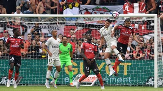 Guingamp v PSG Ligue 1 08182018