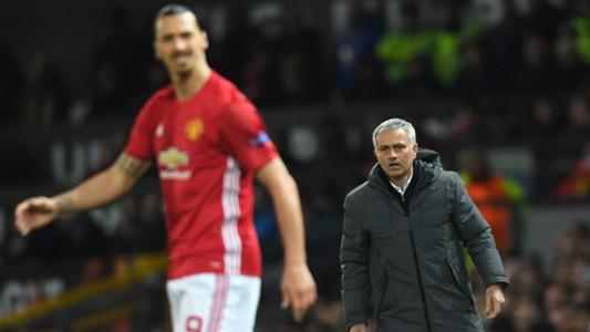 Zlatan Ibrahimovic and Jose Mourinho Manchester United v Anderlecht Europa League 04202017
