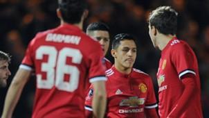 Alexis Sanchez Manchester United FA Cup 01262018