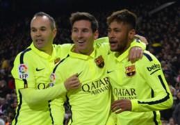 Andrés Iniesta Lionel Messi Neymar Barcelona v Atlético Madrid Copa del Rey 28012015