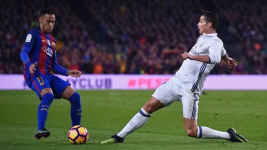 Neymar Cristiano Ronaldo Barcelona v Real Madrid La Liga 03122016