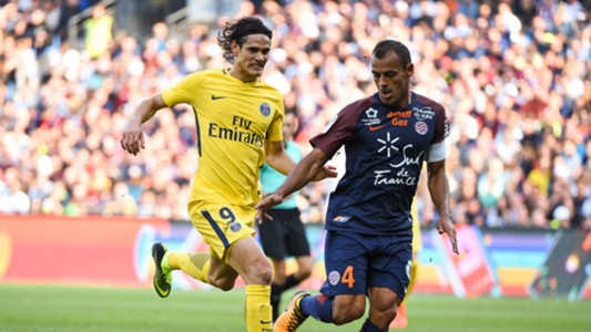 Edinson Cavani PSG Montpellier 23092017