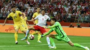 Robert Lewandowski Poland v Romania Euro Qualyfing 10062017