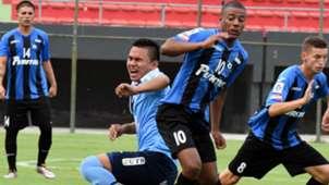 Nicolas De la Cruz Liverpool v Bolivar Copa Libertadores U20 in Asuncion 05022016