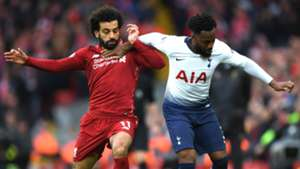 Mo Salah and Danny Rose Liverpool v Tottenham Premier League 03312019