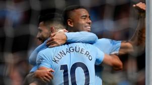 Sergio Aguero y Grabiel Jesús Manchester City vs Liverpool Premier League 09092017