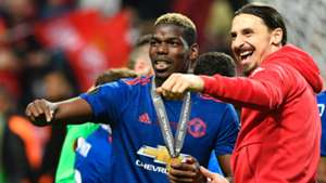 Paul Pogba & Zlatan Ibrahimovic Ajax v Manchester United UEFA Europa League Final 24052017