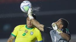 Thiago Silva in action for Brazil
