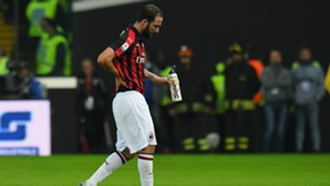 Gonzalo Higuain Udinese v AC Milan Serie A 04112018