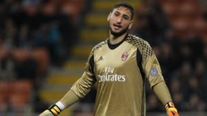 Gianluigi Donnarumma AC Milan v AS Roma Serie A 07052017