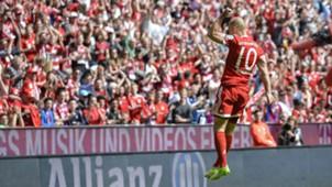 Arjen Robben Bayern Múnich vs Freiburg Bundesliga 20102017