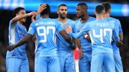Manchester City celebrate during their win over Wycombe Wanderers