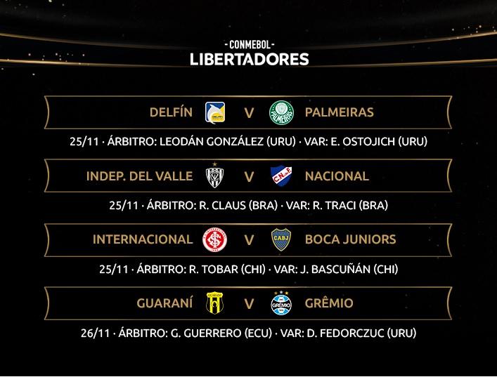 Libertadores referees II round of 16