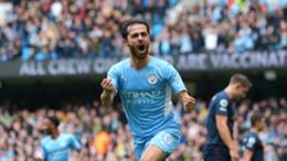 Bernardo Silva opened the scoring for Manchester City against Burnley