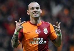 sneijder galatasaray mónaco champions league