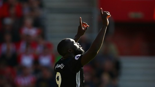 Romelu Lukaku Southampton Manchester United Premier League 23082017