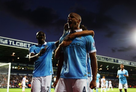 Kompany Manchester City v West Bromwich Premier League 10082015