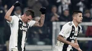 Mario Mandzukic and Joao Cancelo Juventus Serie A 12072018