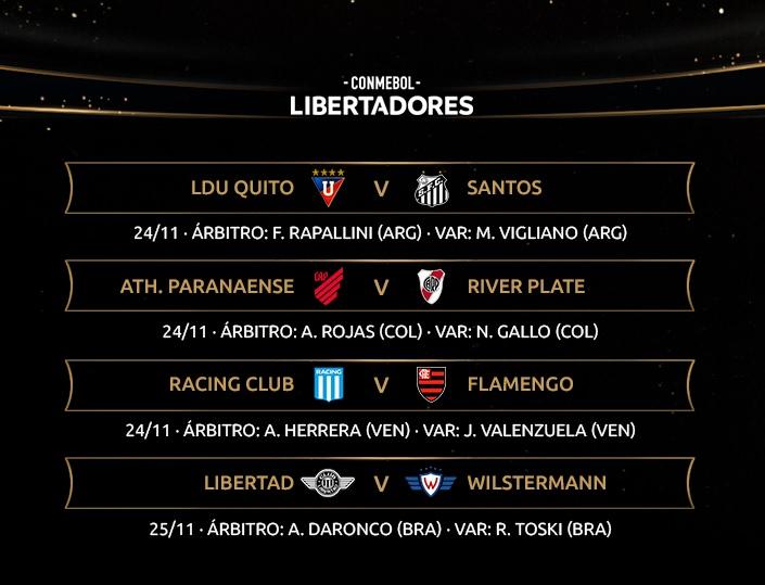 Libertadores referees round of 16