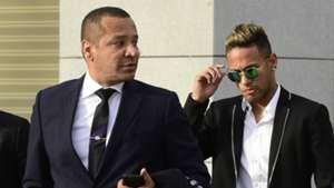 Neymar Sr Neymar Jr arrive to Spain national court in Madrid 02022016