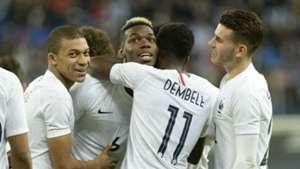 Paul Pogba Francia v Rusia 27032018